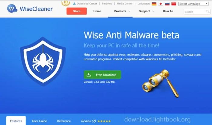 Télécharger Wise Anti Malware Protéger son PC Gratuit