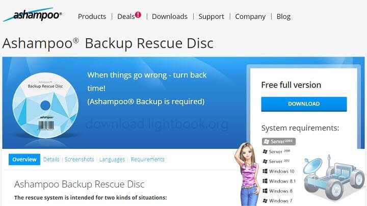Download Ashampoo Backup Rescue Disc2019 for Windows