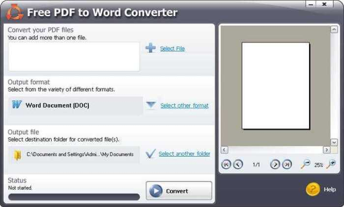 Download Free PDF To Word Converter for Windows 32/64 bit