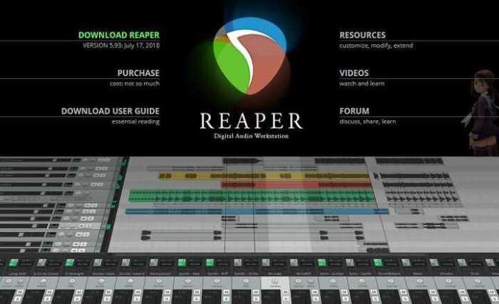 Télécharger REAPER Éditeur Audio pour Windows, Mac et Linux
