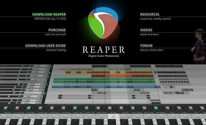 تحميل برنامج REAPER لتحرير الصوت لنظام ويندوز، ماك ولينكس