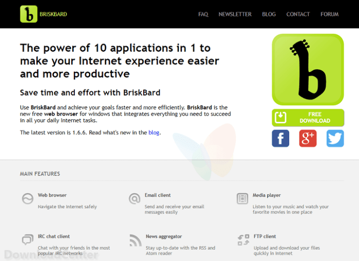 Download BriskBard All-In-One Free Browser for Windows