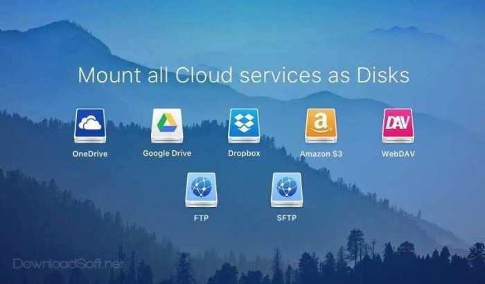 CloudMounter تخزين ملفاتك في الخدمات