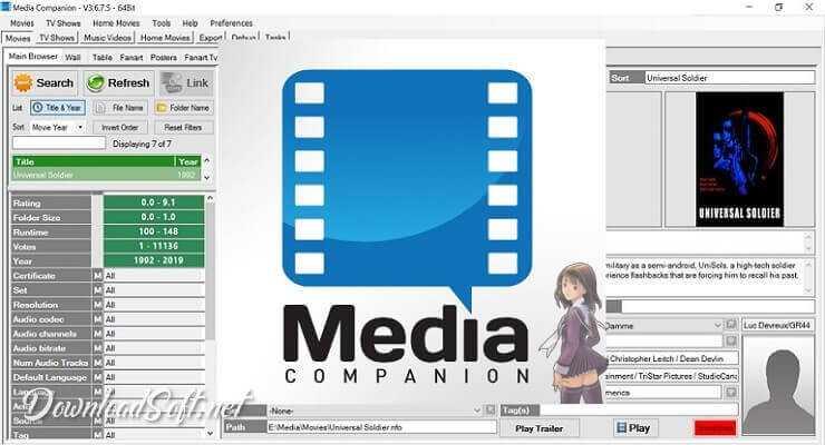 تحميل Media Companion لإدارة وتوفير معلومات افلامك مجانا