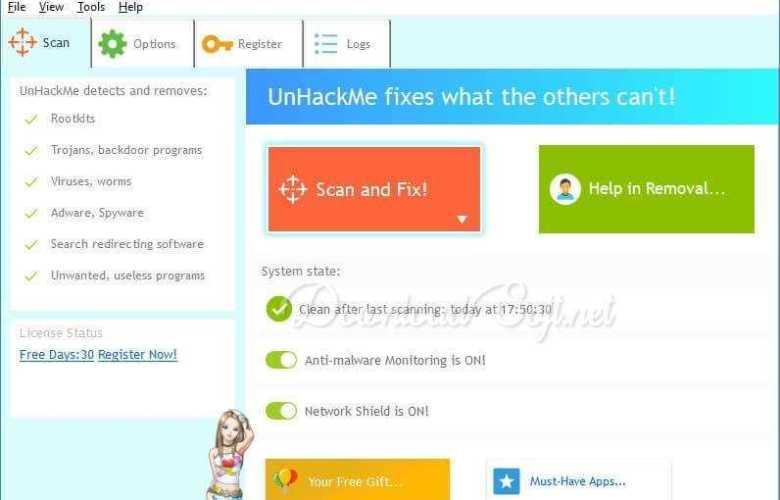 تحميل برنامج UnHackMe 2019 - حماية جهازك من البرامج الضارة