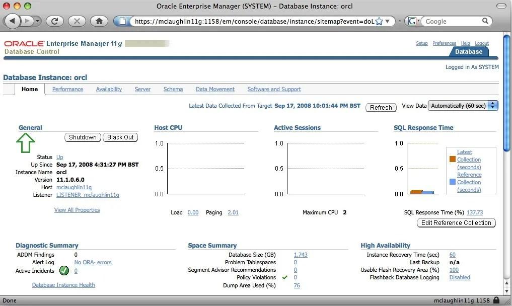 Oracle Database 10g Express Edition 10206  Databases