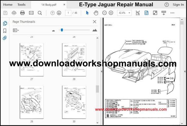 JAGUAR E Type Workshop Manual Download
