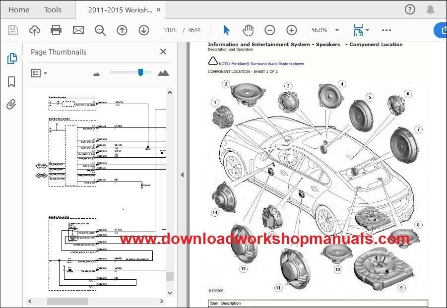 JAGUAR XF X250 TD4 Workshop Manual Download