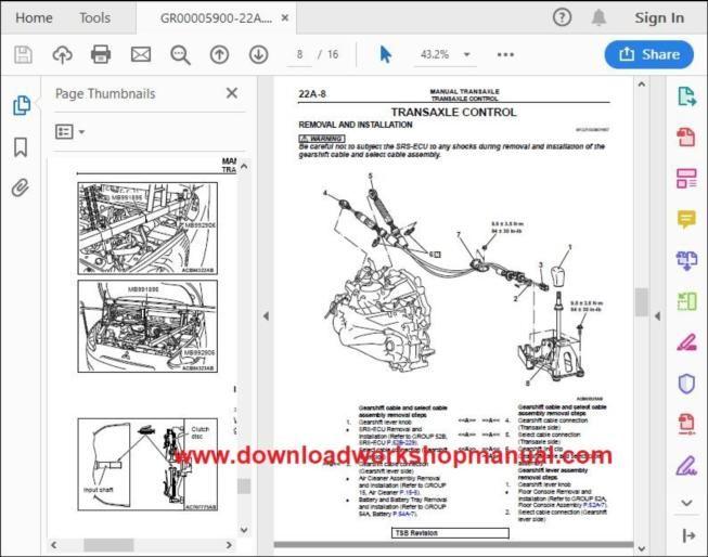 Mitsubishi Mirage Workshop Repair Manual