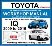 Toyota iQ Service Repair Workshop Manual