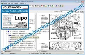VW Lupo Workshop Manual Download