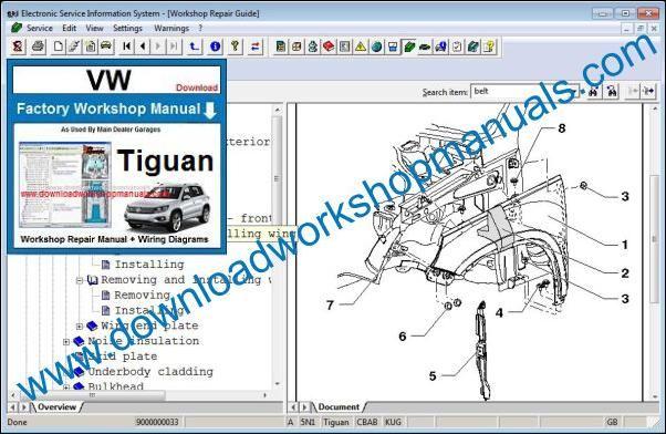 Vw Tiguan Workshop Repair Manual