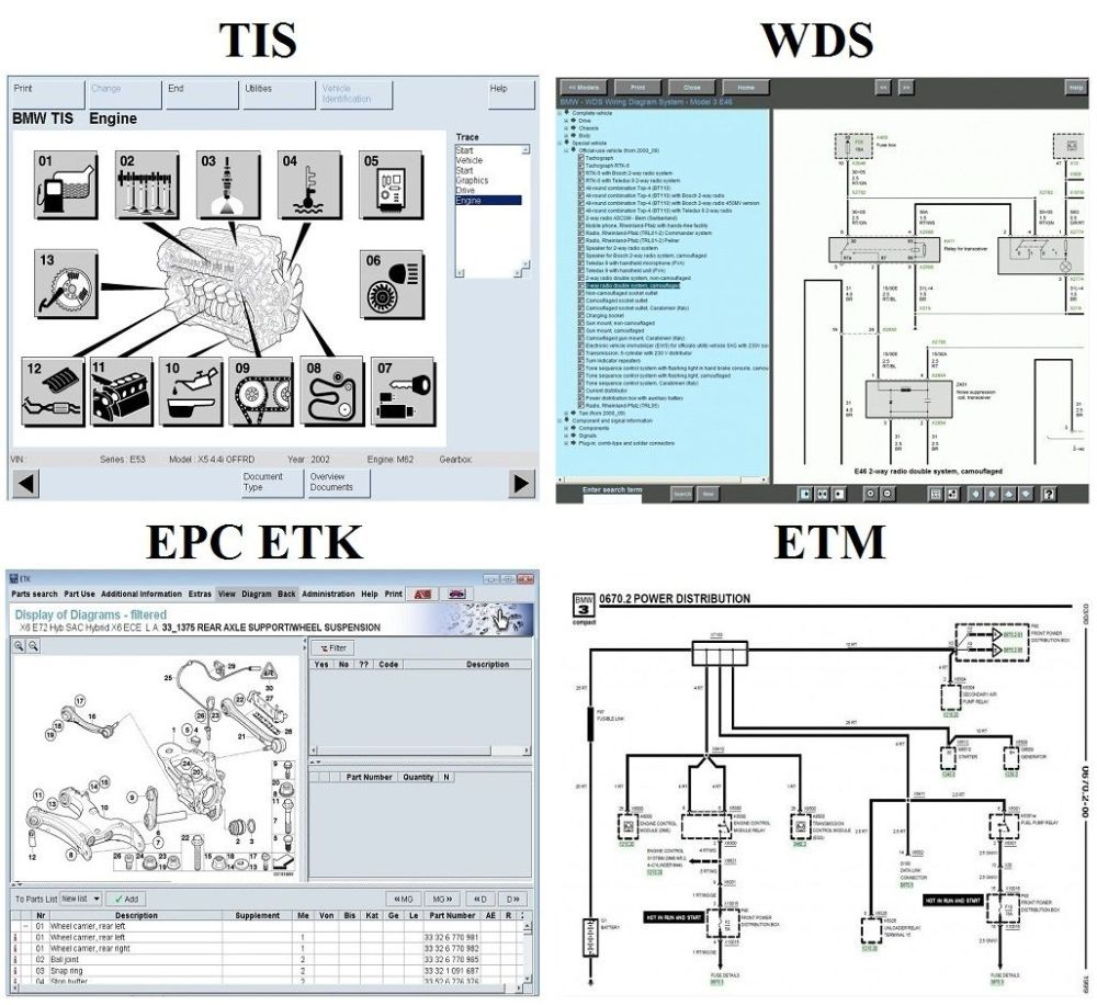 medium resolution of bmw workshop manuals set tis wds epc etk etm compatible with all operating systems windows 10 8 7 vista xp apple mac 0sx 10 6 and above