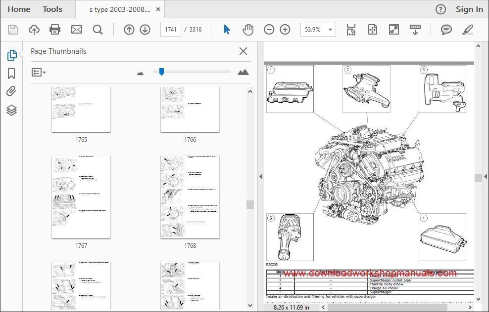 JAGUAR S Type Workshop Manual Download