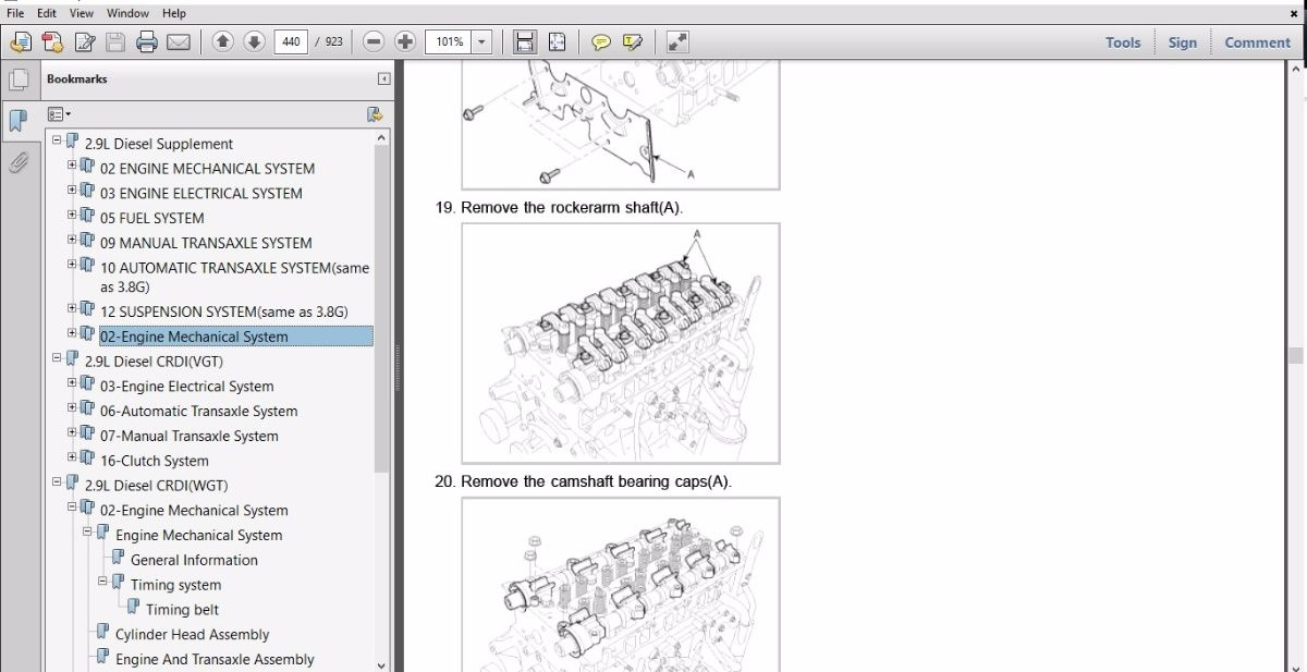 KIA Repair Manual & EPC Electronic Parts Catalogue