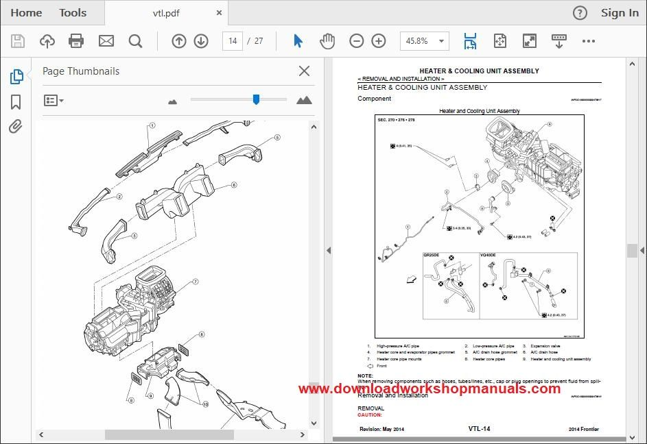 Nissan Navara Service Repair Workshop Manual Download