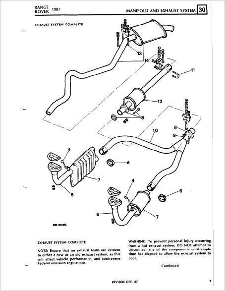 Range Rover Classic Workshop Service Repair Manual Download