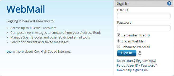 How to login to cox.net webmail - Download App