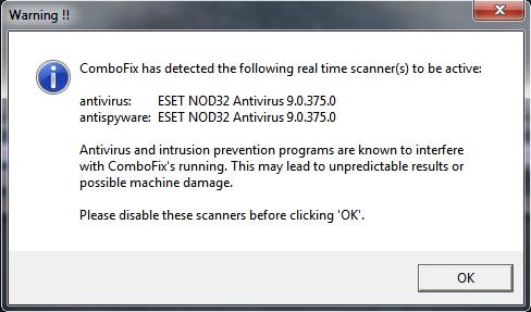 combofix antivirus detect