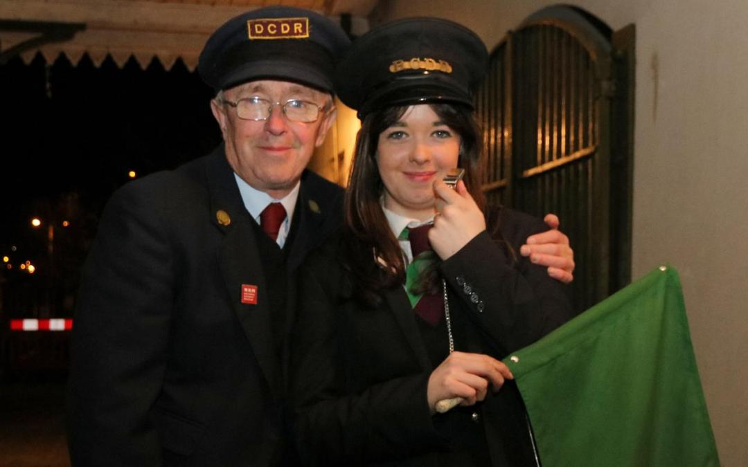 Raymond Dougan poses with his Daughter Rebecca after she passed her guard's exam