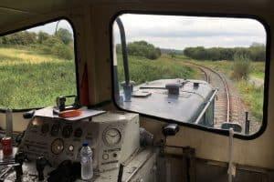 The cab of a G class locomotive