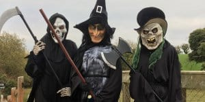Dress up for your visit to the haunted graveyard