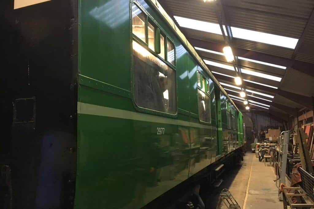 Clean and shiny! One side of the TPO after a day of cleaning in the workshed at Downpatrick.
