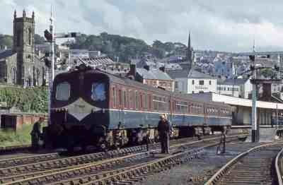 3-car 80 Class headed by power car 68 at Waterside Station in Derry/Londonderry in June 1979. [Photo: Jonathan Allen]