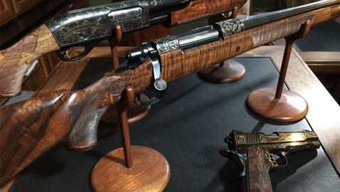 Remington's 200th Anniversary Guns, one of 4 sets (a Remington 700, an 870 shotgun and a 1911)