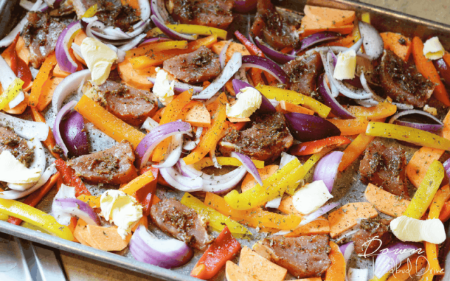 Sheet Pan Pork and Peppers