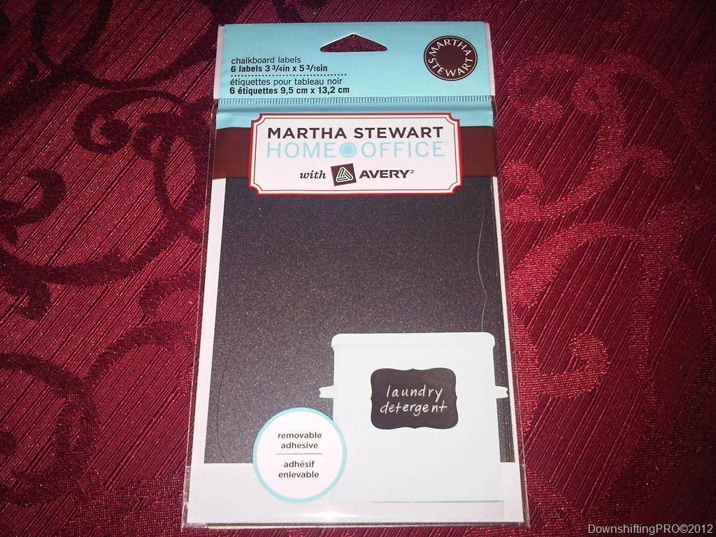 martha stewart home office with avery u2013chalkboard labels