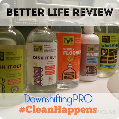 Clean Happes Better Life Cleaning Products Review by @DownshiftingPRO 1
