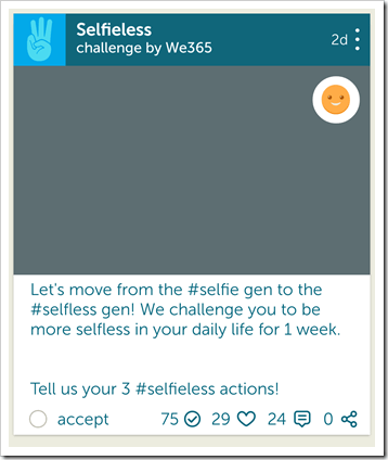 We365 App Review - @DownshiftingPRO #WeDay - SELFIELESS CHALLENGE