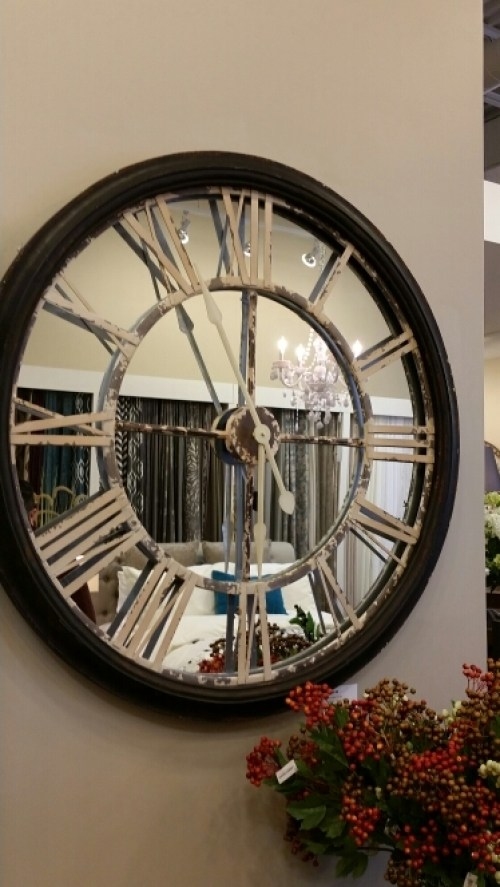 Urban Barn - Wall Clock Mirrored Roman Numerals  @DownshiftingPRO