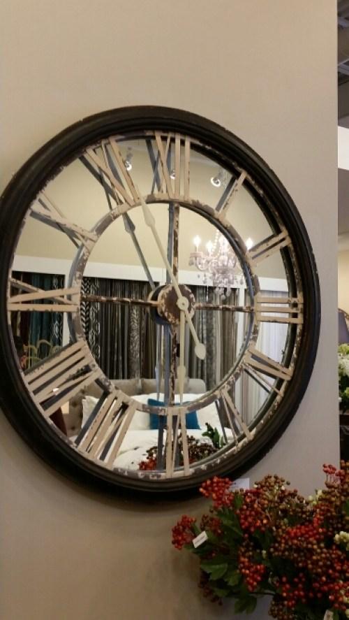 Urban Barn - Wall Clock Mirrored Roman Numerals  @DownshiftingPRO