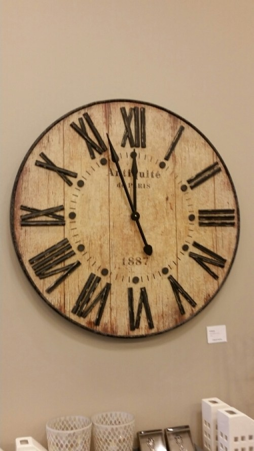 Urban Barn - Wall Clock Vintage Roman Numerals  @DownshiftingPRO