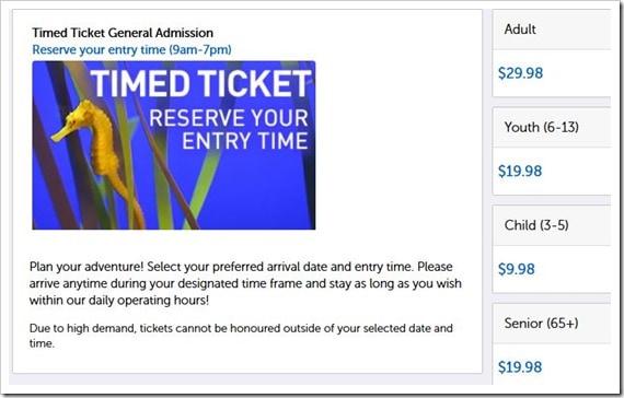 Ripley's Aquarium of Canada Ticket Prices
