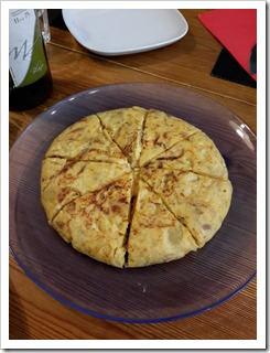 Tortilla at bcnKitchen Spanish Cooking Class Barcelona Spain #TBEX