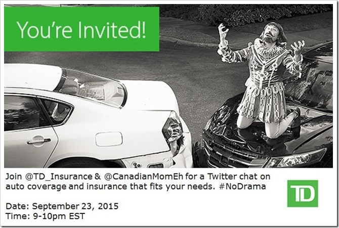 Join the #NoDrama Twitter Party with @TD_Insurance Wed ...