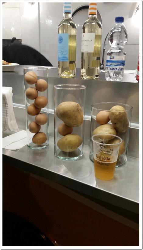 Lloret de Mar, Spain - Food Truck & Caravan Food Festival - Potatoes & Eggs