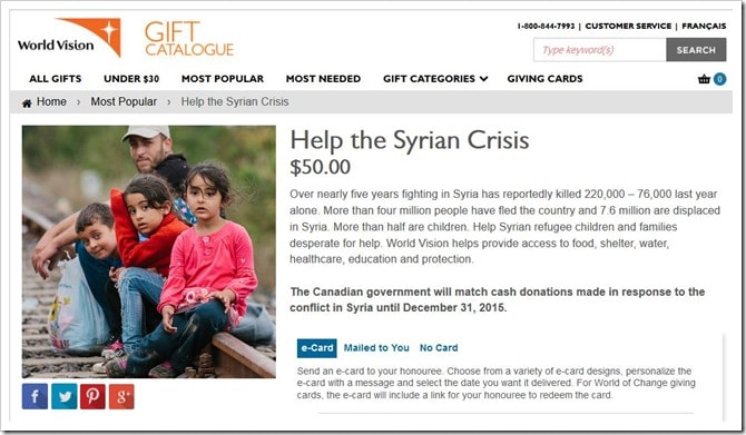 WorldVisionCanada Gift Catalogue_Syrian Crisis