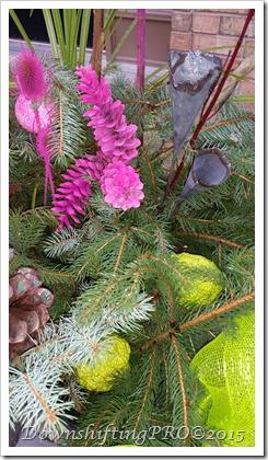Holiday Urn Tutorial @DownshiftingPRO Christmas Planters