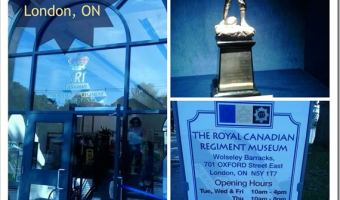 The Royal Canadian Regiment Museum Wolseley Barracks –London, Ontario #TravellingMaple #Ontario #LdnOnt