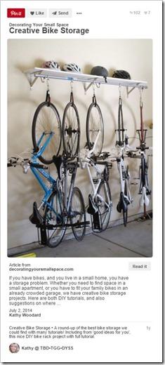 Sports Equipment Organization_Bike Storage