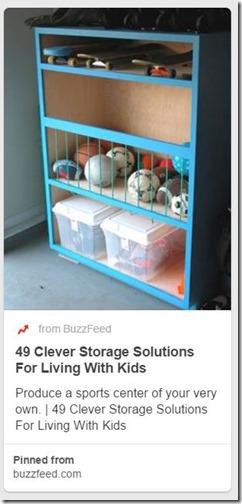 Sports Equipment Organization_Repurposed cabinet