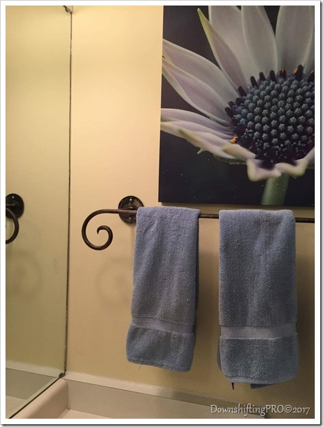 Bathroom Makeover - @DownshiftingPRO - My Benjamin Moore Home