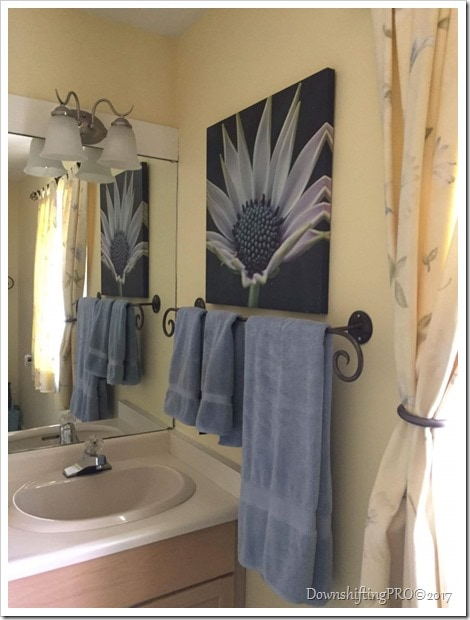 Bathroom Makeover - @DownshiftingPRO - Benjamin Moore (2)