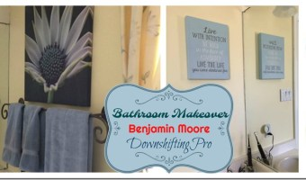 How to make a small bathroom look big again with Paint  – My Benjamin Moore Home