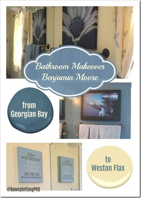 From Georgian Bay to Weston Flax - Benjamin Moore - DownshiftingPRO - PIN