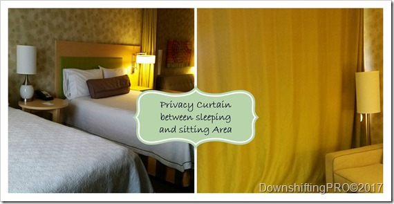Privacy Curtain in Bedroom Area of Home2Suites by Hilton Huntsville, AB